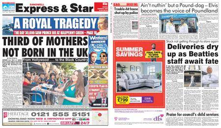 Express and Star Sandwell Edition – September 01, 2018