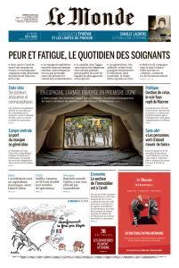 Le Monde du Vendredi 3 Avril 2020