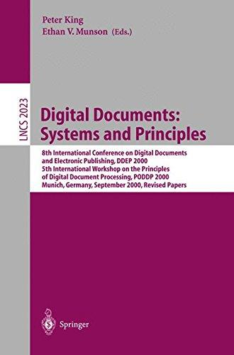 Digital Documents: Systems and Principles: 8th International Conference on Digital Documents and Electronic Publishing, DDEP 20
