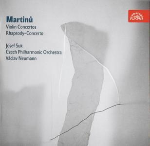 Josef Suk, Czech Philharmonic Orchestra, Vaclav Neumann - Martinu: Violin Concertos, Rhapsody-Concerto (2009) (Repost)