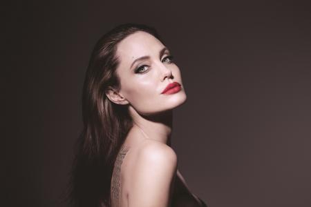 Angelina Jolie by Mathieu Cesar for GUERLAIN's Mon Guerlain Eau de Parfum Florale