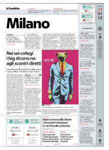 la Repubblica Milano - 29 Gennaio 2018