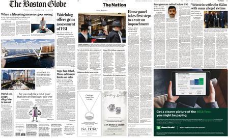 The Boston Globe – December 12, 2019