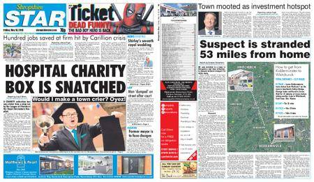 Shropshire Star Shrewsbury Edition – May 18, 2018