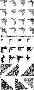 Vectors - Ornamental Vintage Corners 28