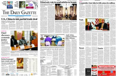 The Daily Gazette – January 15, 2020