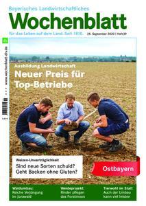 Bayerisches Landwirtschaftliches Wochenblatt Ostbayern - 24. September 2020