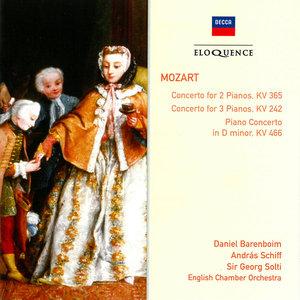 Daniel Barenboim, Andras Schiff, Sir Georg Solti, English CO - Mozart: Piano Concertos K 242, 365, 466 (1990) Reissue 2006