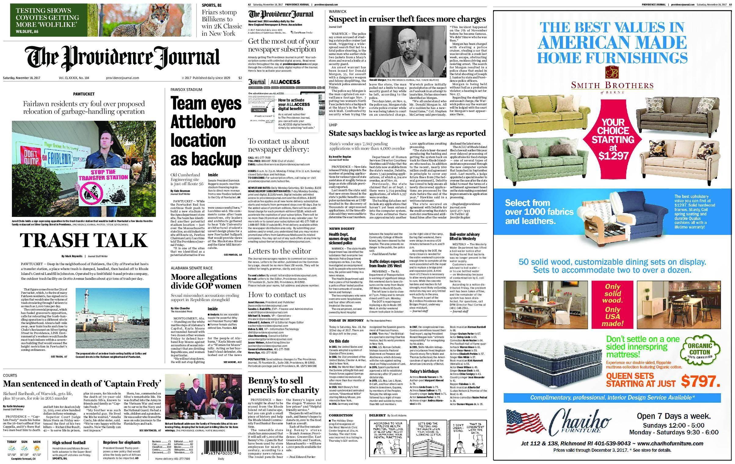 The Providence Journal – November 18, 2017 / AvaxHome