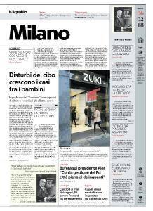 la Repubblica Milano - 6 Febbraio 2018