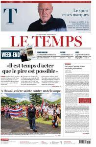 Le Temps - 21 septembre 2019