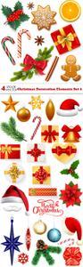 Vectors - Christmas Decoration Elements Set 6