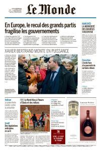 Le Monde du Jeudi 27 Décembre 2018