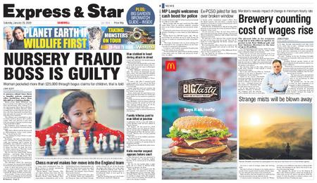 Express and Star Sandwell Edition – January 25, 2020