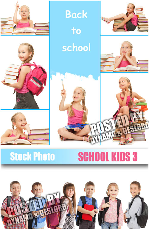 School kids 3 - UHQ Stock Photo