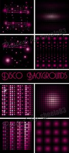 Purple Disco Backgrounds Vector