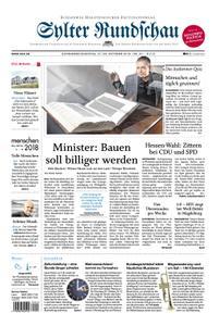 Sylter Rundschau - 27. Oktober 2018