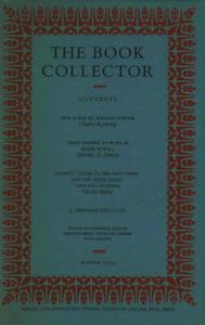 The Book Collector - Winter, 1973