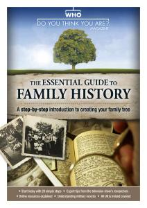 Who Do You Think You Are Special Edition - The Essential Guide to Family History - March 2020