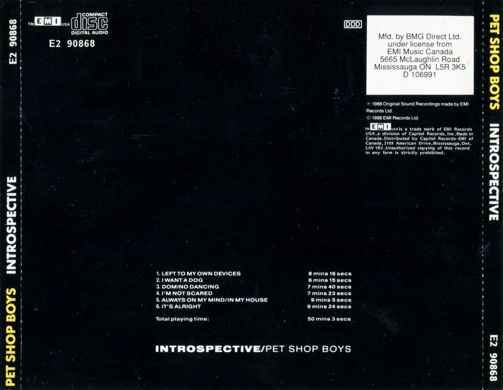 Pet Shop Boys - Introspective (1988)