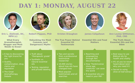 The 2016 Essential Oils Revolution Summit, 22nd - 28th August 2016