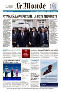 Le Monde du Dimanche 6 et Lundi 7 Octobre 2019