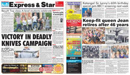 Express and Star Sandwell Edition – August 17, 2018