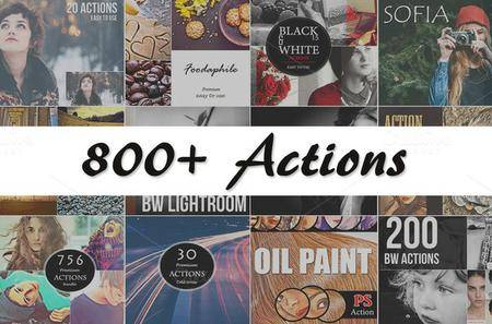 CreativeMarket - 800+ PS Actions Bundle