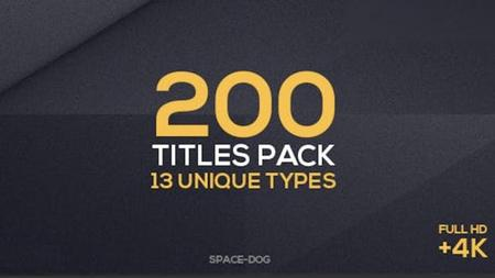 200 Titles Collection - Premiere Pro (VideoHive) 24651785