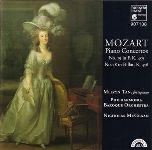 Melvyn Tan, Philharmonia Baroque Orchestra, Nicholas McGegan - Mozart: Piano Concertos No. 18 & 19 (1995)