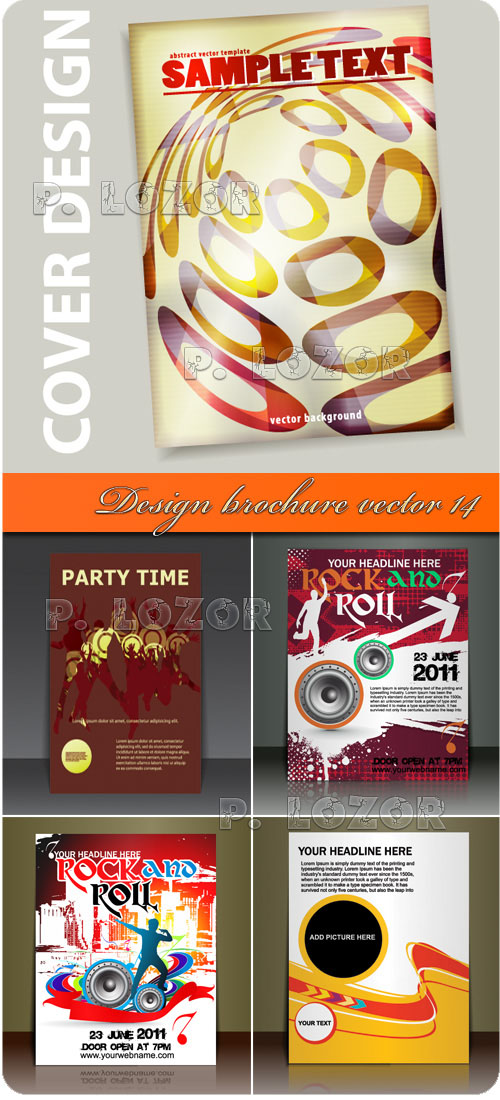 Design brochure vector 14