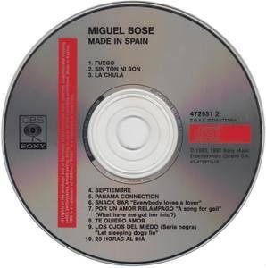 Miguel Bosé - Made In Spain (1983) [1992, Reissue]