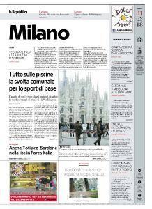 la Repubblica Milano - 31 Marzo 2018