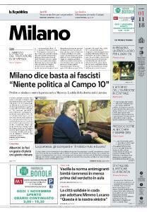 la Repubblica Milano - 1 Novembre 2018