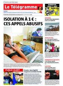 Le Télégramme Concarneau – 31 juillet 2019