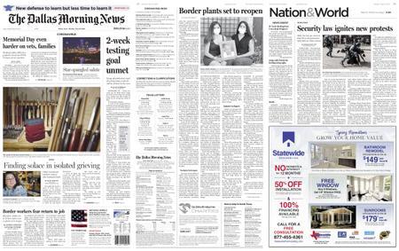 The Dallas Morning News – May 25, 2020