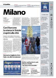 la Repubblica Milano - 24 Dicembre 2017