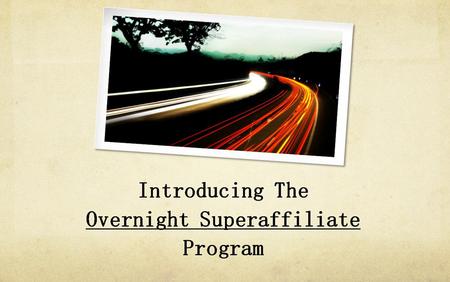 Gerry Crammer, Rob Jones – Overnight Super Affiliate