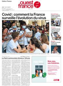 Ouest-France Édition France – 01 juillet 2021