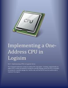 Implementing a One Address CPU in Logisim