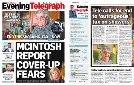 Evening Telegraph First Edition – February 04, 2019
