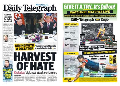 The Daily Telegraph (Sydney) – February 28, 2019