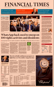 Financial Times Europe – 30 October 2019