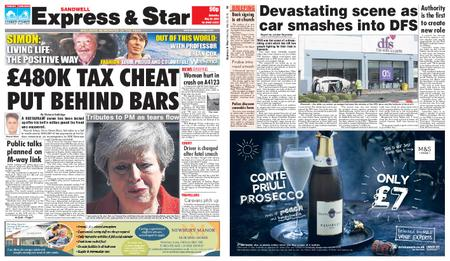 Express and Star Sandwell Edition – May 25, 2019