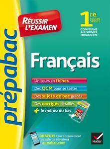 """Sylvie Dauvin, Jacques Dauvin, """"Français 1re toutes séries – Prépabac Réussir l'examen"""""""