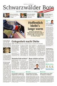 Schwarzwälder Bote St. Georgen, Triberg, Furtwangen - 23. Oktober 2018