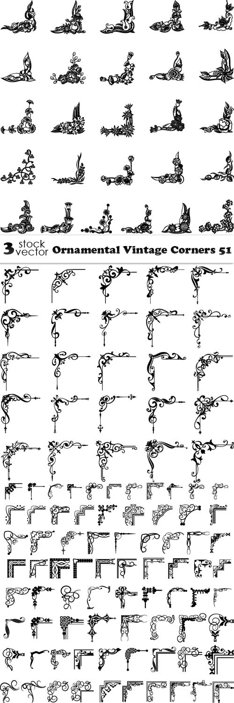 Vectors - Ornamental Vintage Corners 51
