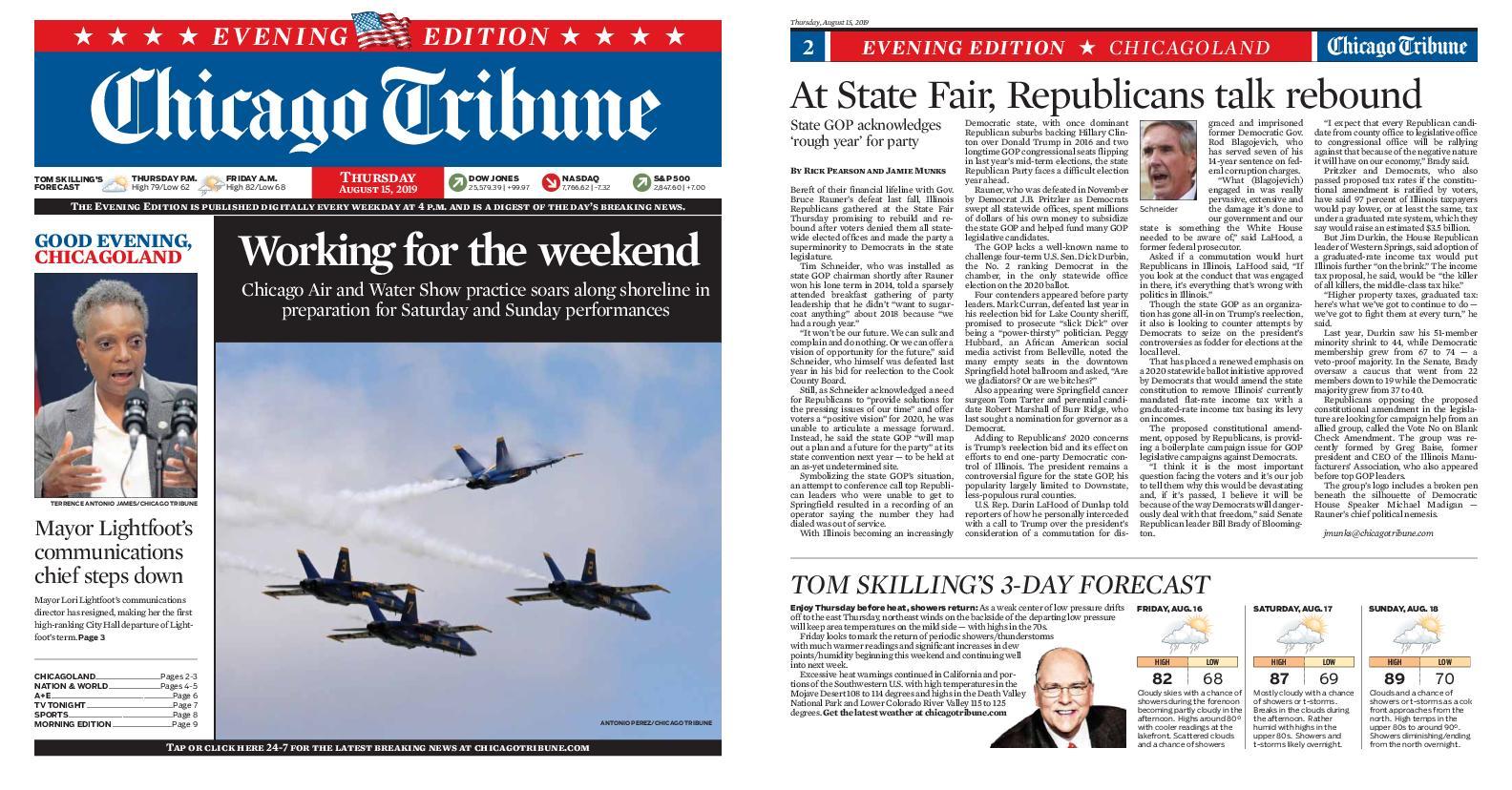 Chicago Tribune Evening Edition – August 15, 2019