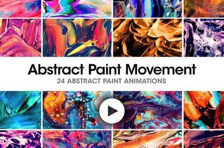 CreativeMarket - Abstract Paint Movement: 24 Videos