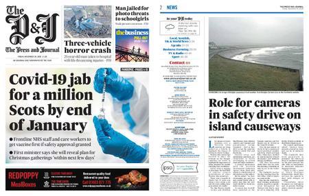 The Press and Journal Moray – November 20, 2020